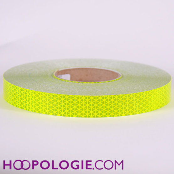 Reflecterende hoepeltape geel safety reflective fluor yellow
