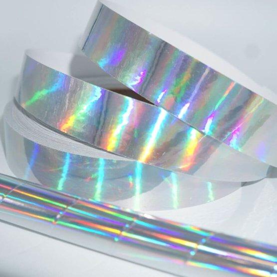 Spiegeltape zilver rainbow sheen