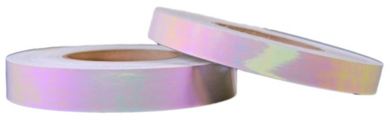 transparant roze kleurveranderende hoepel tape transparent iridescent hoop tape